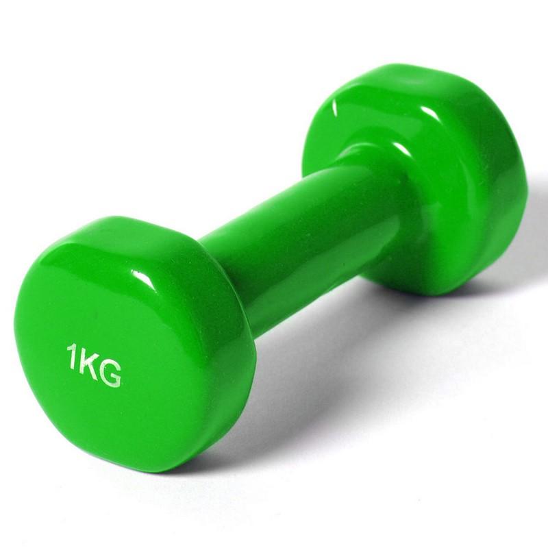 Купить Гантель виниловая York 1,0 кг B35014 зеленая,