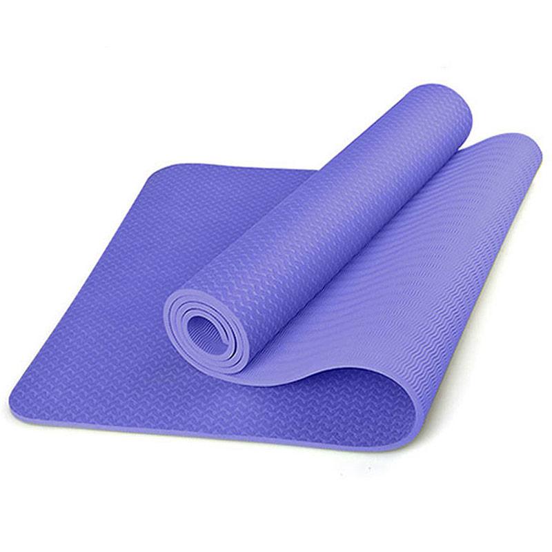 Купить Коврик для йоги ТПЕ 183х61х0,6 см B31276-5 сиреневый, NoBrand