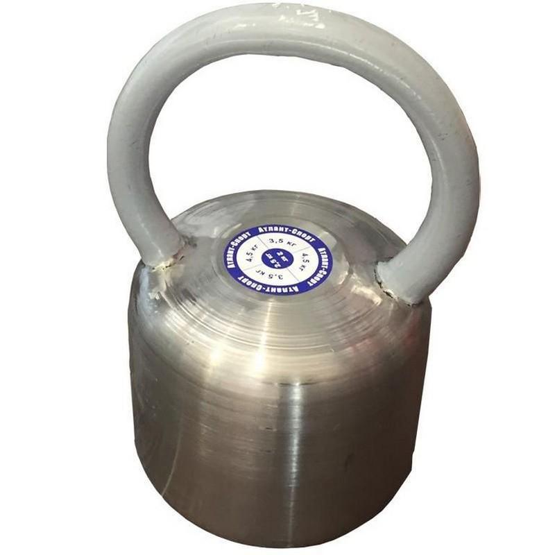 Гиря цельная Атлант 12 кг (хром. сталь)