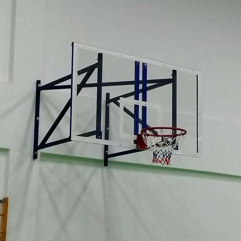Купить Щит баскетбольный поликарбонат 10мм, игровой с основанием 180x105см Ellada М195,