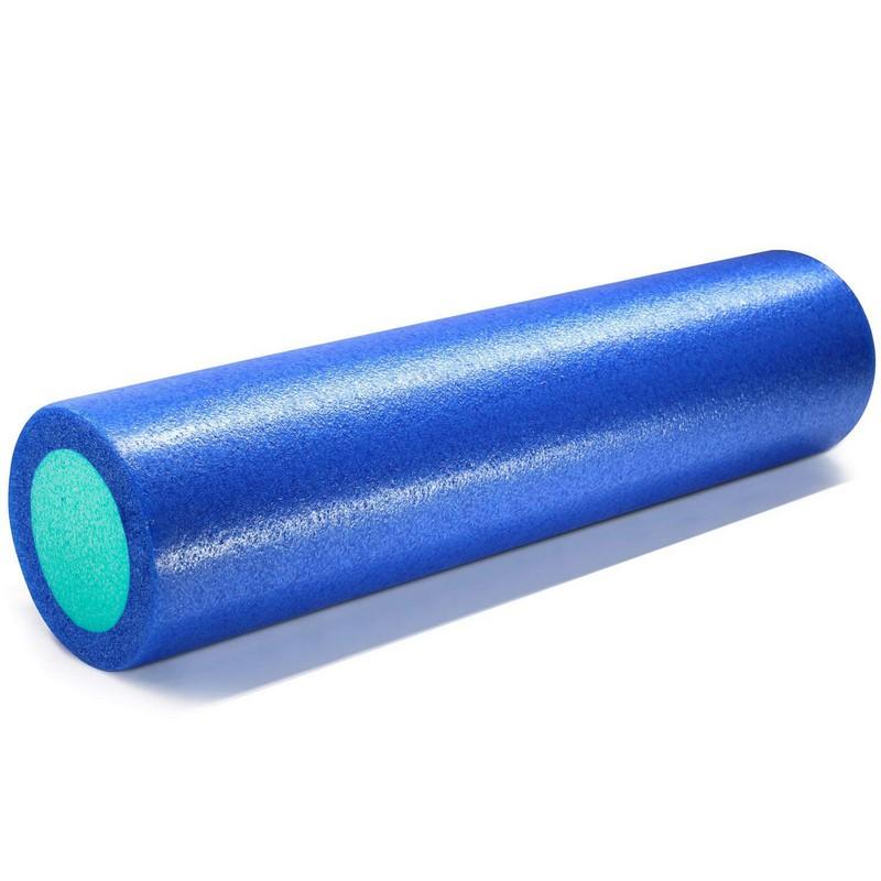 Купить Ролик для йоги полнотелый 61x15cm PEF100-61 синий-зеленый, NoBrand