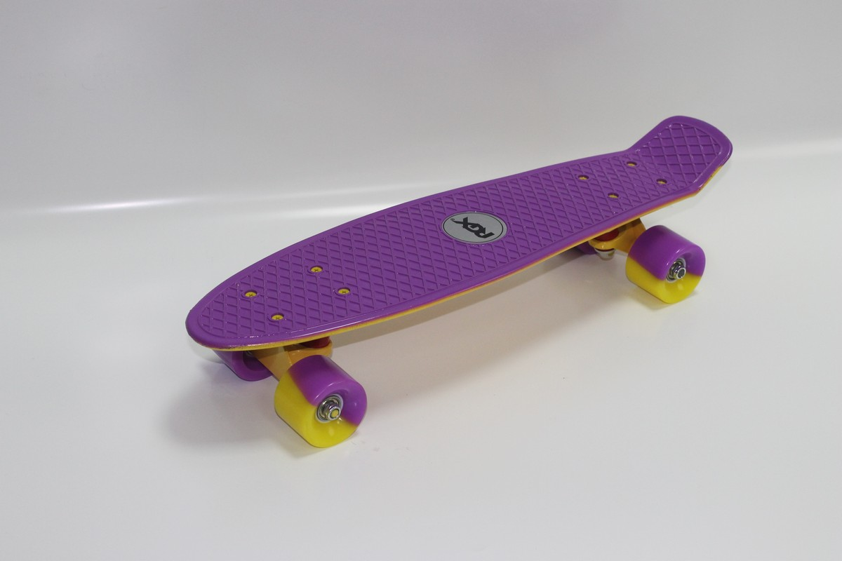 Мини-круизер RGX PNB-09 violet/yellow скейтборд rgx small 2