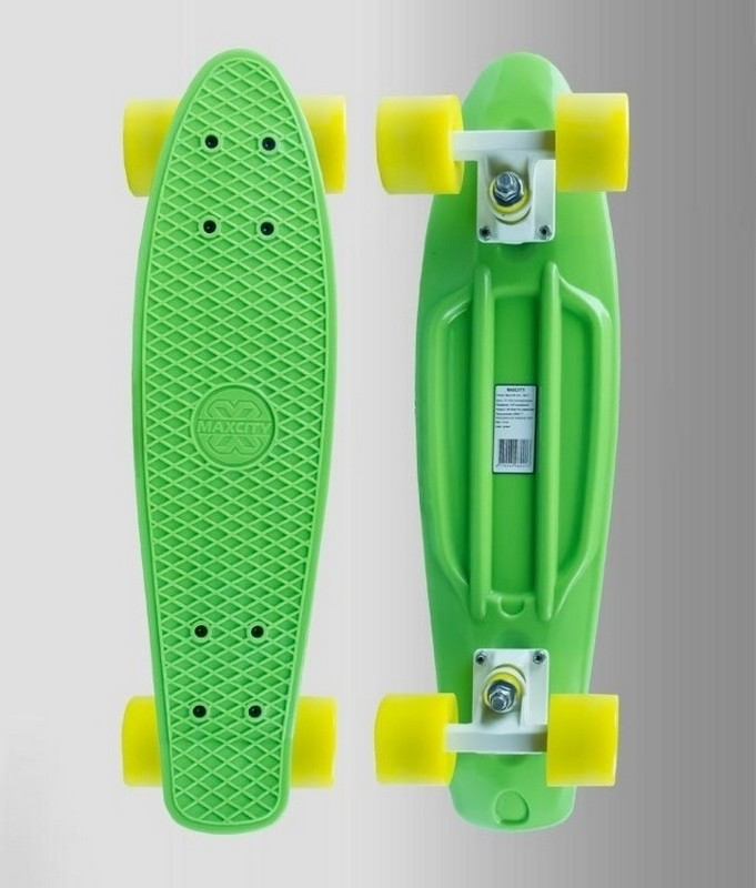 Скейтборд MaxCity MC Plastic Board small green