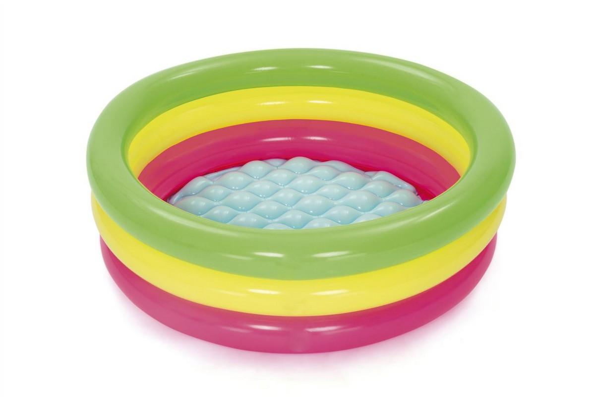 Купить Детский надувной бассейн 70x24см Bestway Лето, c надувным дном 51128,