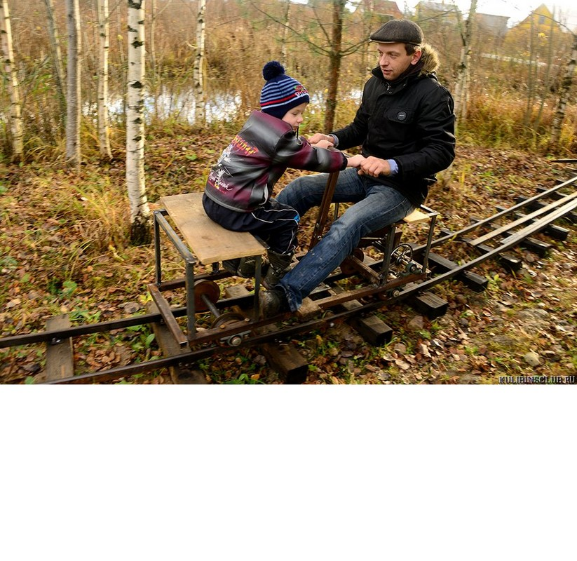 Садовая железная дорога с дрезиной Hercules 4804