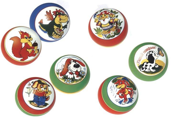 Купить Мяч детский 125 мм С75П с рисунком, NoBrand, Детские мячи