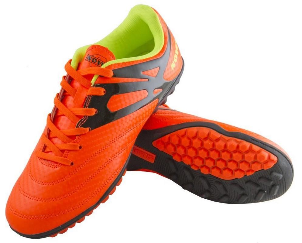 Бутсы футбольные Novus NSB-20 Turf оранжевый (30-46) novus 4 26