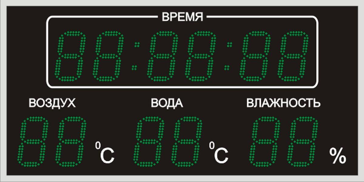 Табло для бассейна 1100х550х60мм прибор для измерения влажности в помещениях