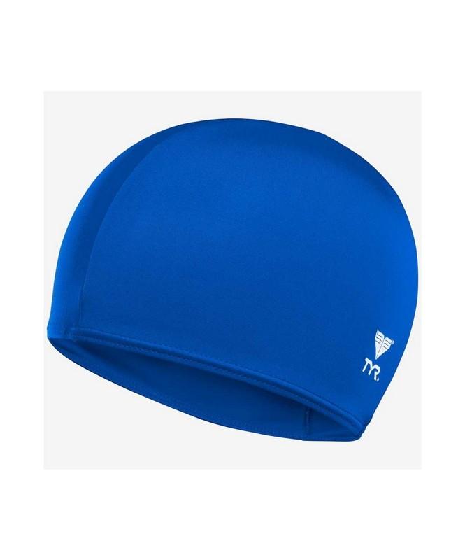 Шапочка для плавания TYR Solid Lycra Cap, лайкра, LCY\428 голубой фото