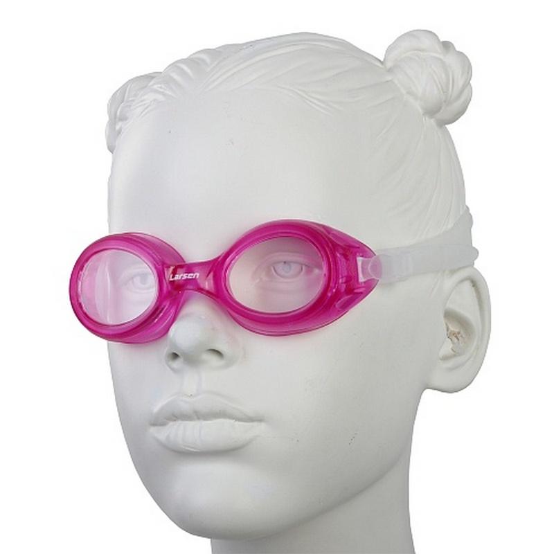 Купить Очки плавательные детские Larsen DS7 розовый,