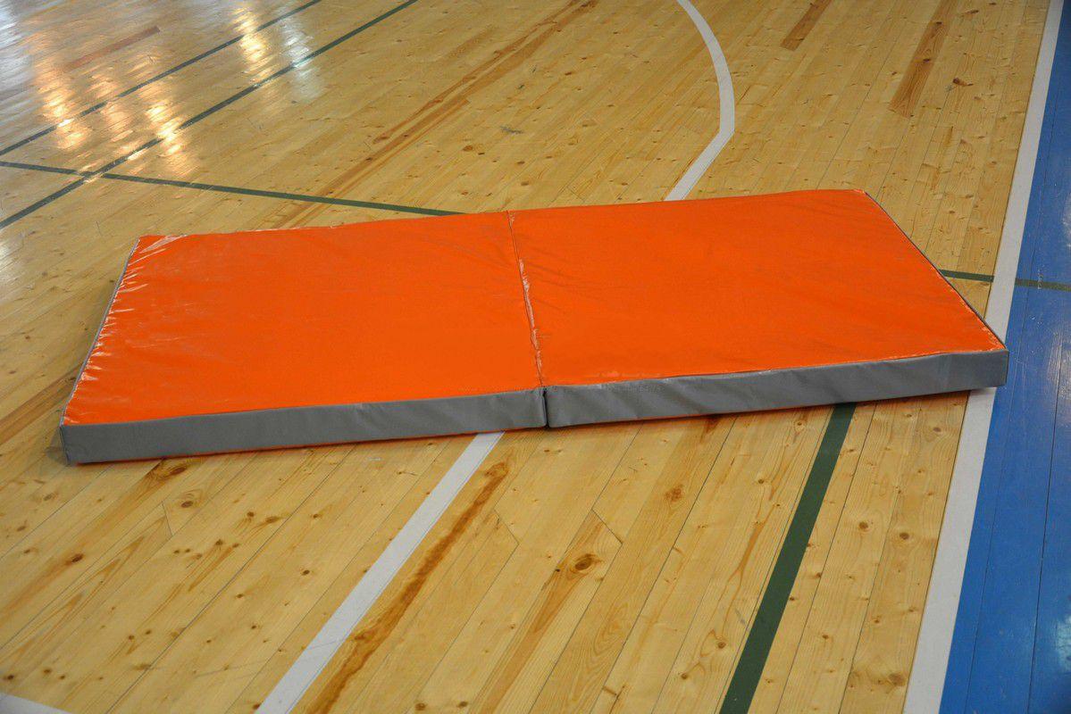 Мат гимнастический складной 2х1х0,1м профи (тент, антислип, 2 сложения) чехол мата гимнастического складной 2х2х0 1м тент антислип 2 сложения спортивные технологии