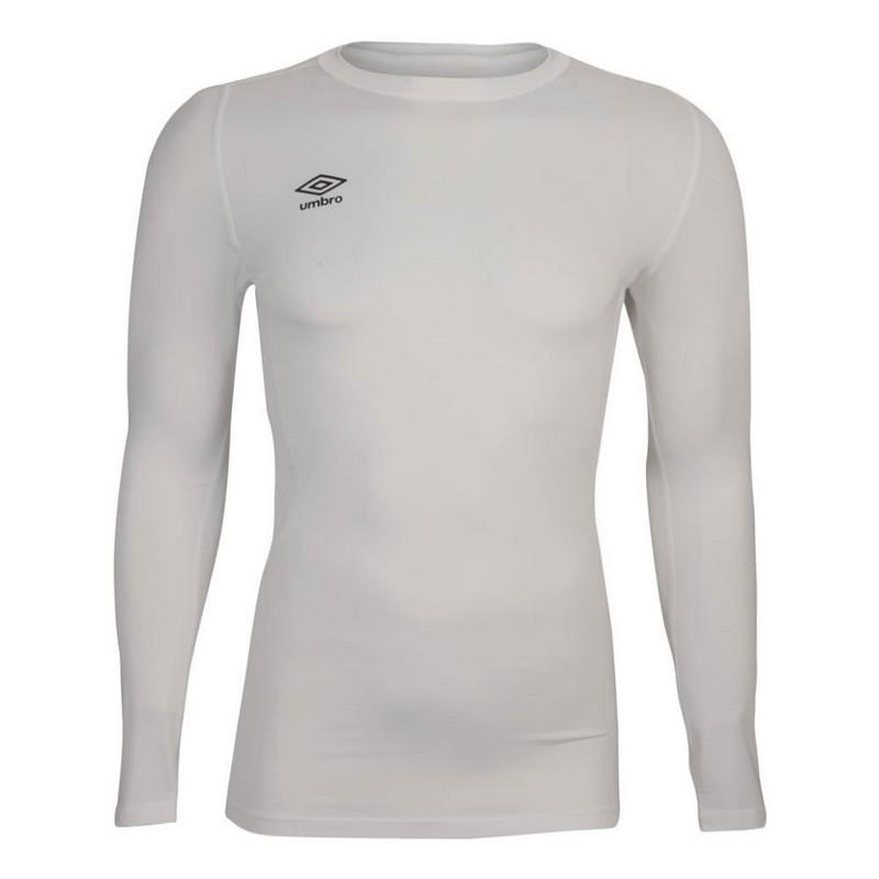 Терморубашка Umbro Baselayer Jersey Ls мужская (016) бел/чер.
