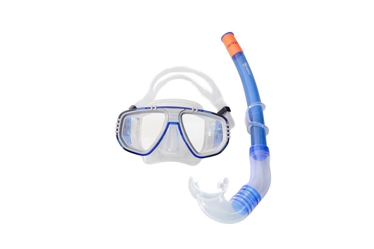 Купить Маска+трубка Wave Diving Mask and Snorkel Set Silicone MS-1313S5 blue,