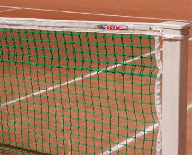Сетка для большого тенниса KV.Rezak профессиональная d=3мм зеленая сетка для мини тенниса