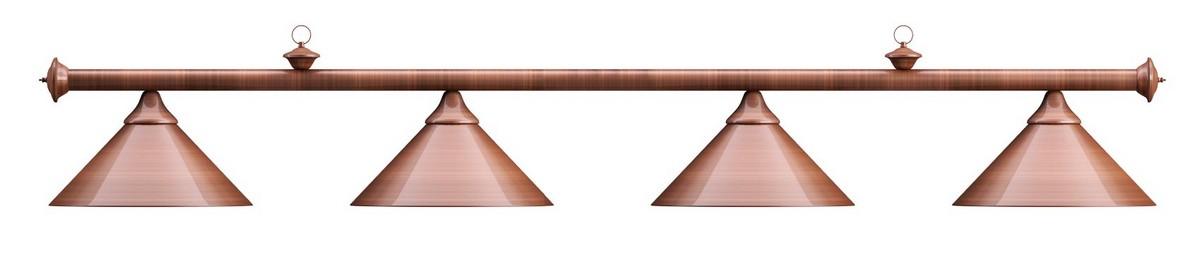 Лампа на четыре плафона Elegance D35 см 75.028.04.0 бронзовая штанга, бронзовый плафон, NoBrand  - купить со скидкой