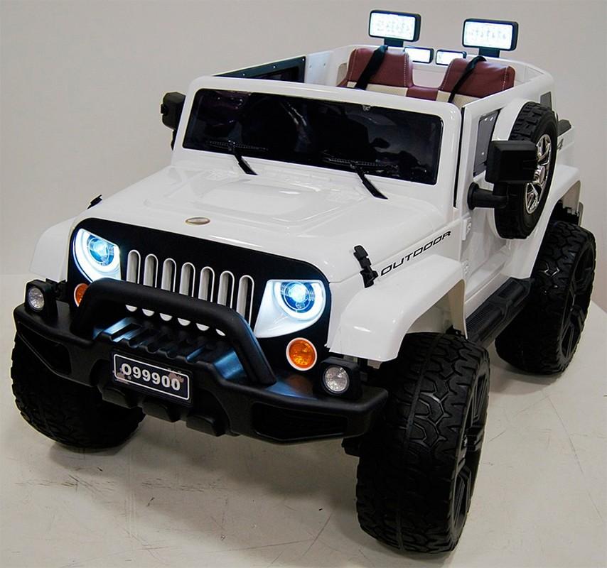 Электромобиль River-Toys Wrangler O999OO 4x4 белый