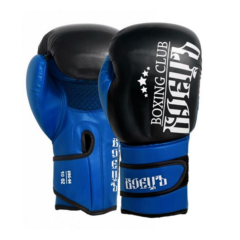 Купить Боксерские перчатки Боецъ BBG-04 Синие 12 oz,
