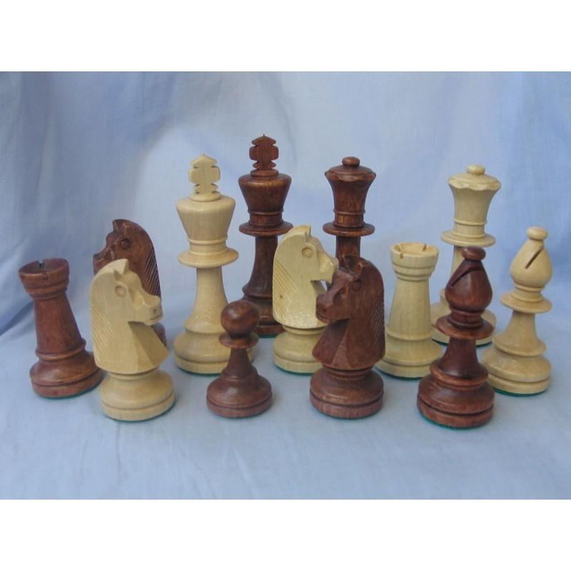 Купить Фигуры шахматные деревянные Стаунтон №5 с утяжелителем ШФ 30, NoBrand
