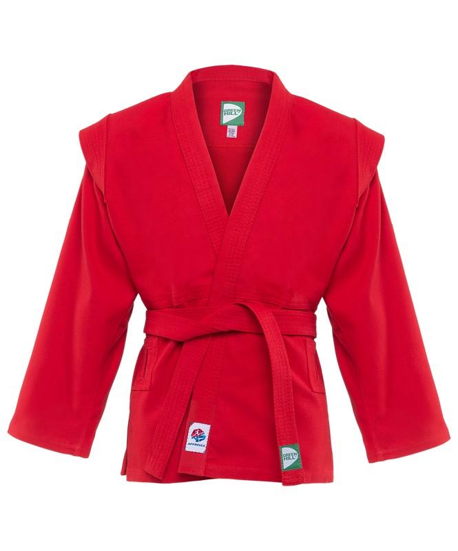 Купить Куртка для самбо Green Hill JS-303 красный,