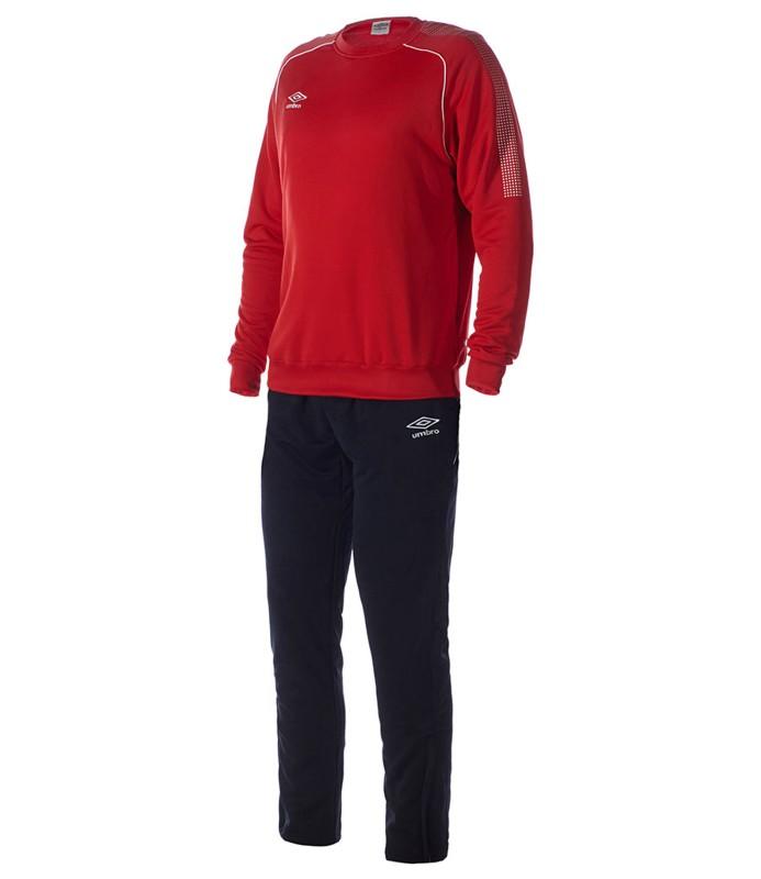 Костюм спортивный Umbro Prodigy Team Cotton Suit мужской 350215 (261) красн/чер/бел.