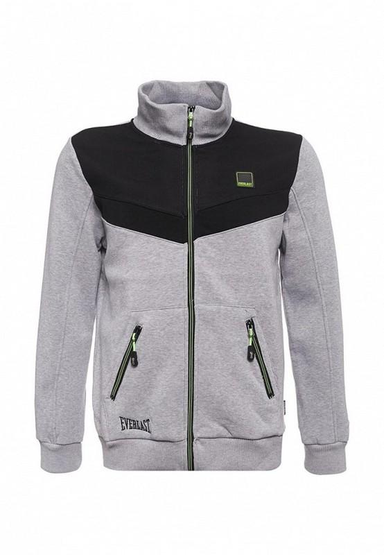 Толстовка на молнии Everlast Premium Sports серый EVR9016 GR everlast куртка
