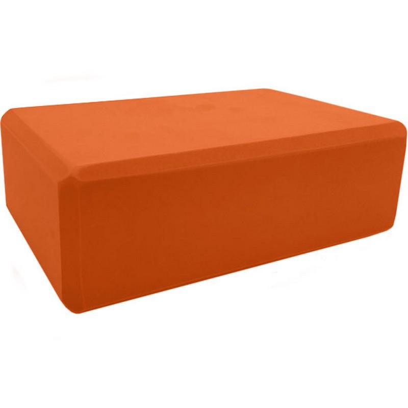 Купить Йога блок Sportex BE100-6 полумягкий, из вспененного ЭВА (A25573) оранжевый,