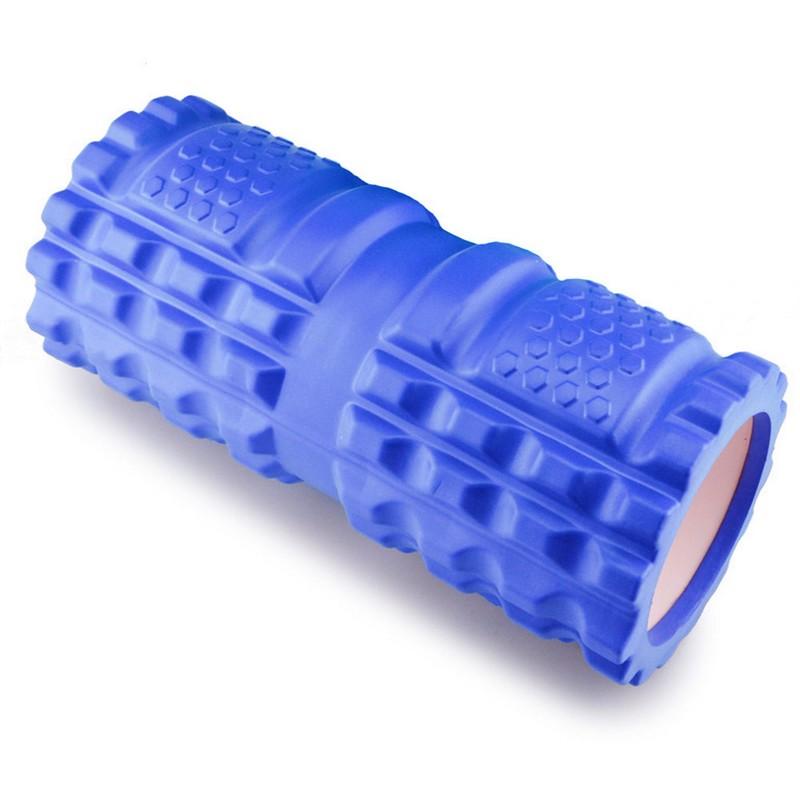 Купить Ролик для йоги 33х14см ЭВА/АБС B32207 синий, NoBrand