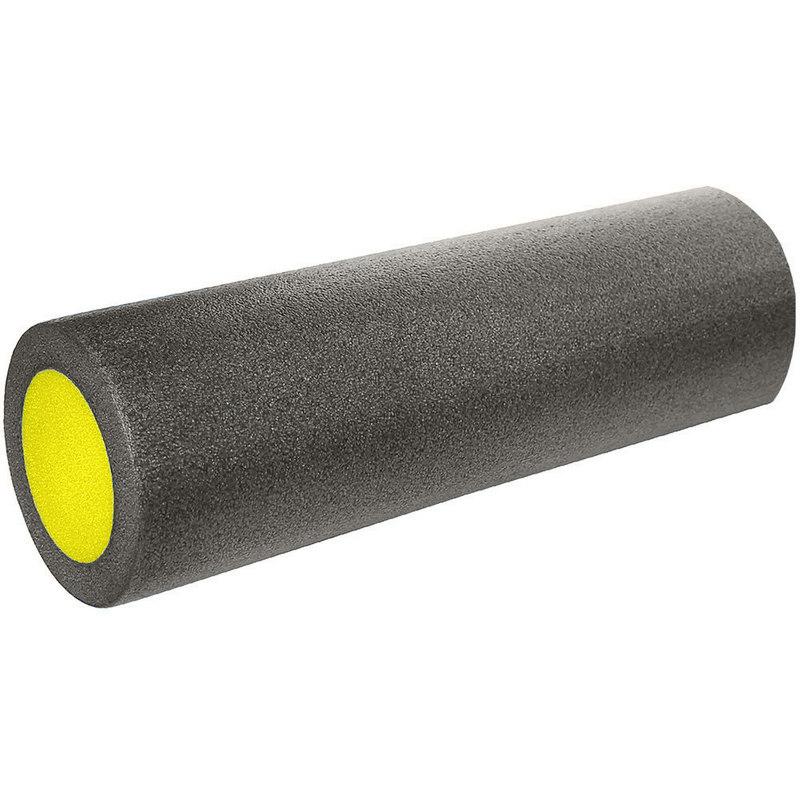 Купить Ролик для йоги полнотелый 2-х цветный (черно/желтый) 45х15см B31511-3, NoBrand