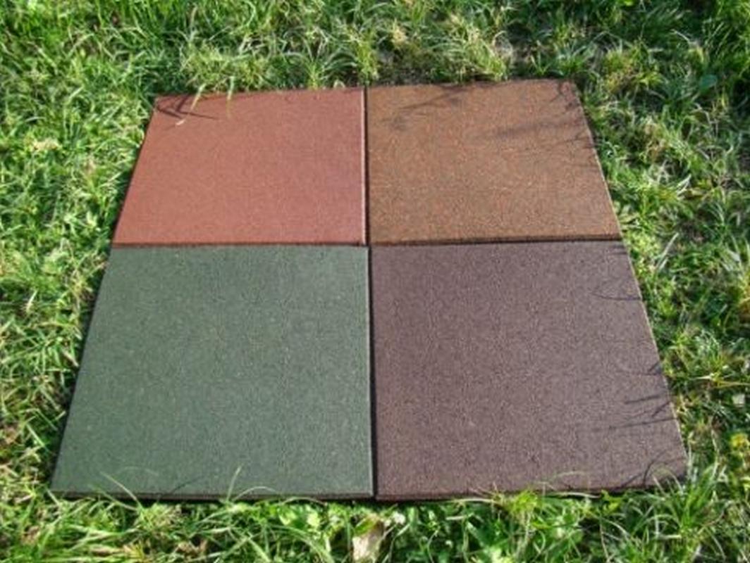 Резиновая плитка квадрат, толщина: 20 мм