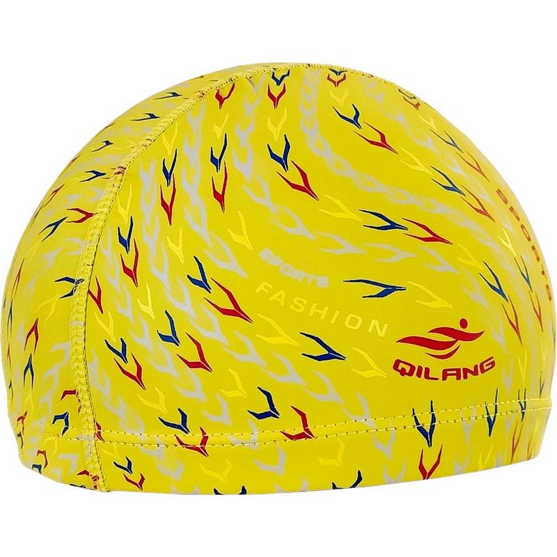 Купить Шапочка для плавания B31562 с принтом ПУ (желтые), NoBrand