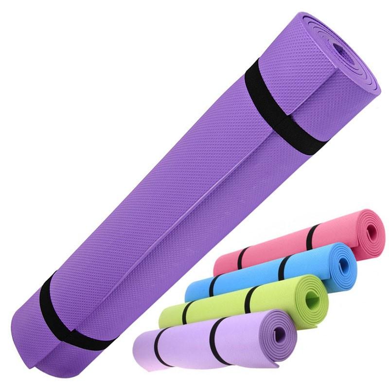 Купить Коврик для йоги EVA 173х61х0,4 см HKEM1205-04 фиолетовый, NoBrand
