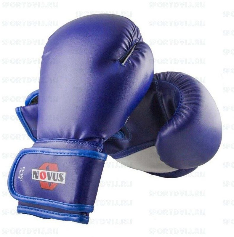 Перчатки боксерские Novus LTB-16301, 8 унций S/M, синие фото