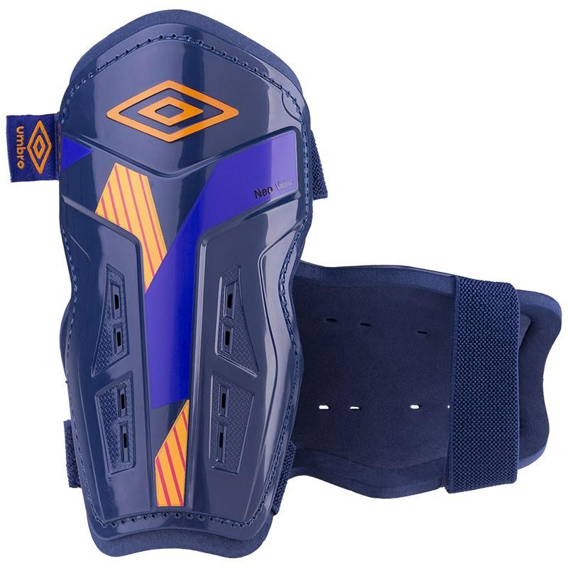 Щитки любительские Umbro Neo Valor Slip 20968U-FYN т.син-оранж-фиолетовый