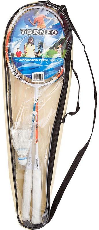 Набор для бадминтона Torneo RS-1100  ракетка (2шт), волан (2шт), чехол набор для бадминтона torneo сетка со стойками 2 ракетки 2 волана чехол