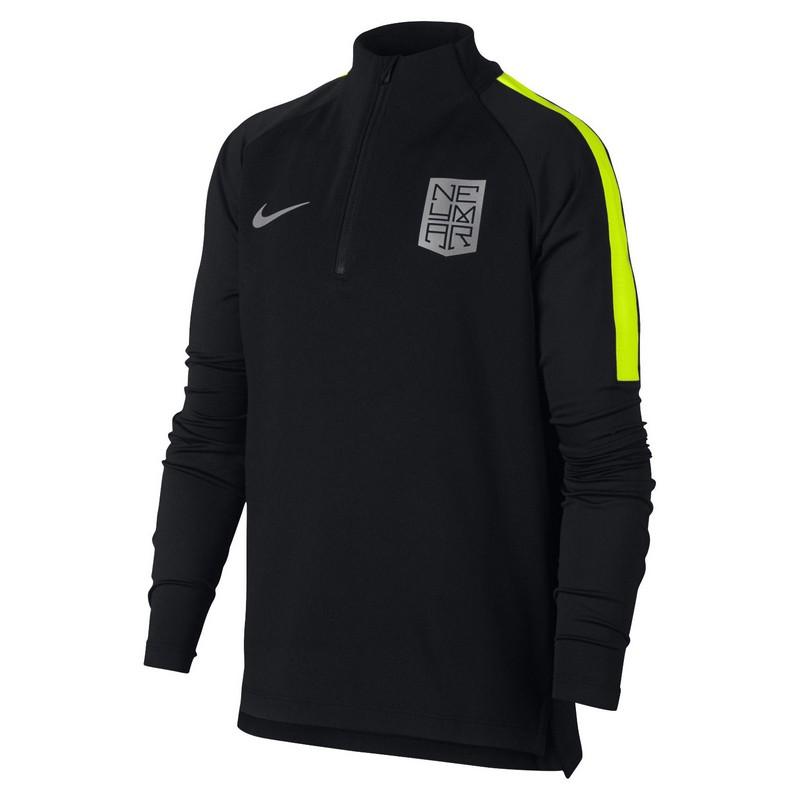 Свитер тренировочный Nike Nyr Dry Sqd Dril Top 891238-010 детский, черн/св.зел. свитера толстовки nike свитер тренировочный nike shld sqd dril top 888123 481