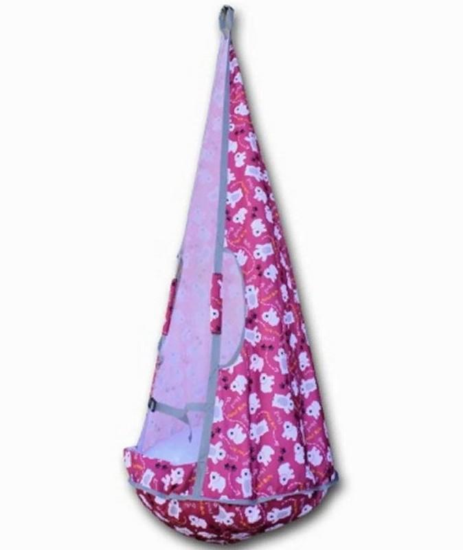 Качели-гамак Belon Ка-001 маленькие, мишки на розовом
