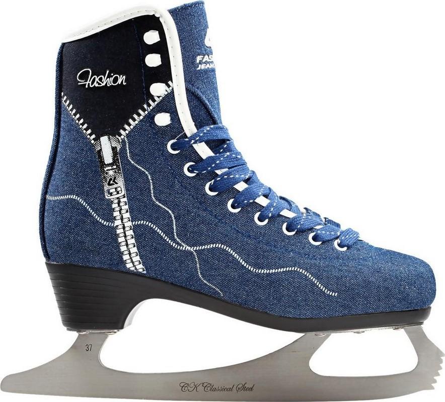 Фигурные коньки СК Fashion Lux jeans blue