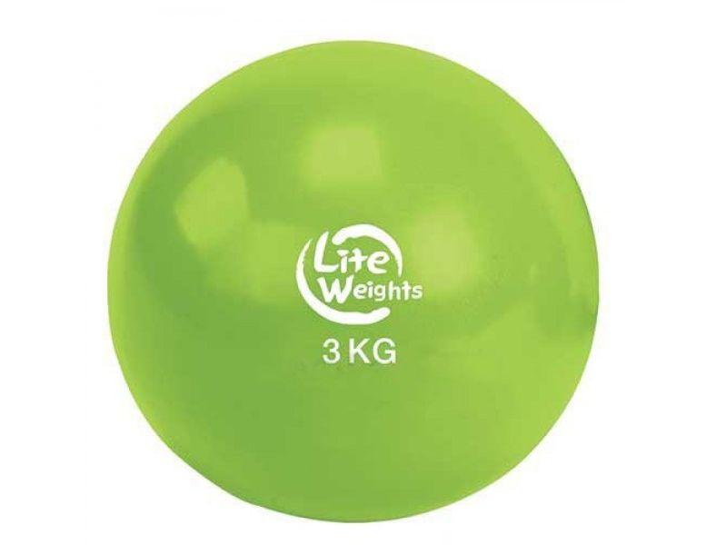 Купить Медбол Lite Weights 3кг 1703LW, салатовый, 3кг,