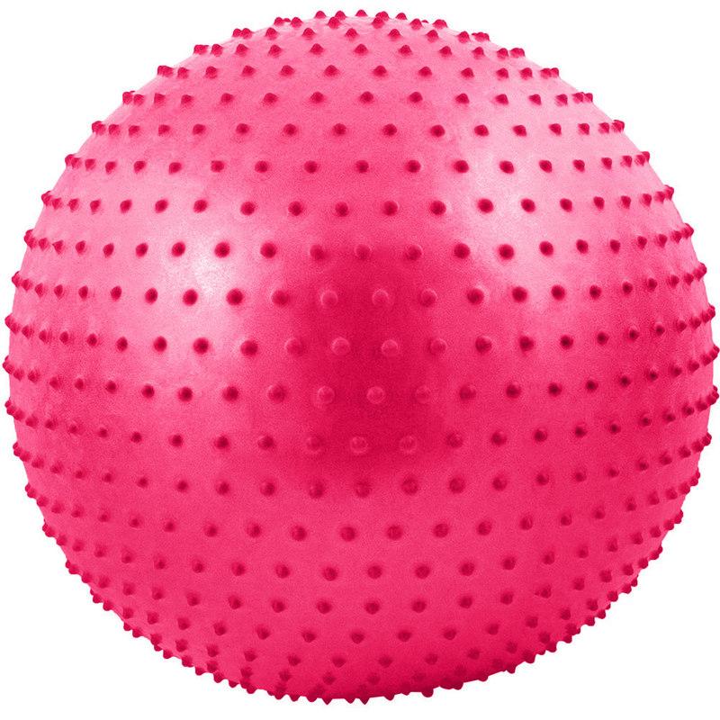 Купить Мяч гимнастический Anti-Burst массажный 75 см FBM-75-6, розовый, NoBrand