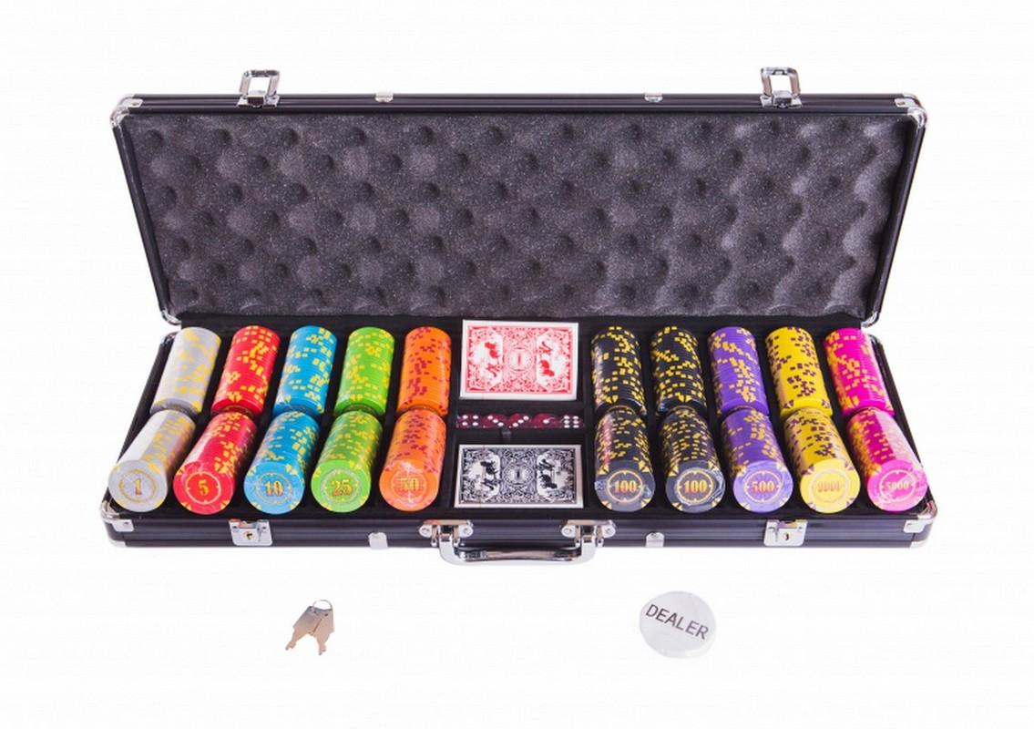 Набор для покера Partida Compas на 500 фишек compas500