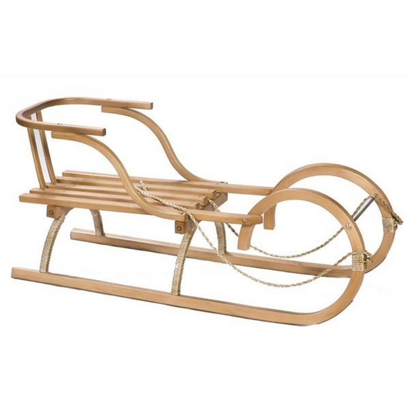 Санки деревянные спортивные со спинкой W4036