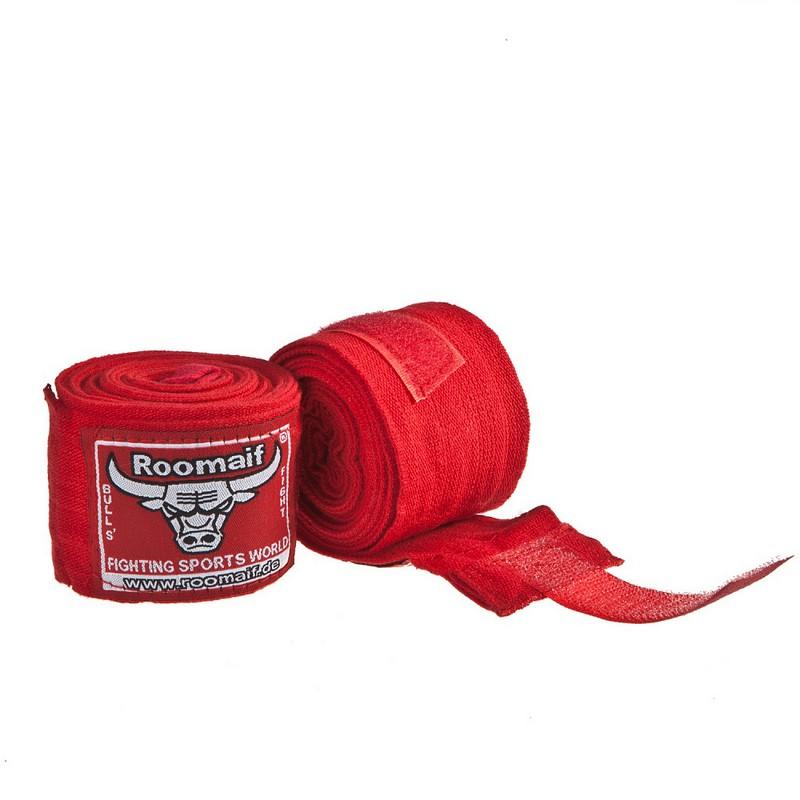 Купить Бинт боксерский Roomaif 3 м, хлопок-лайкра RME красный,