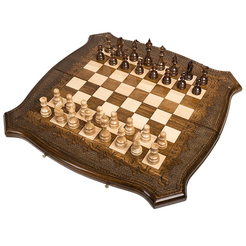 Шахматы + Нарды Ohanyan резные Лоза 50