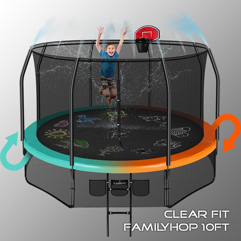 Купить Батут Clear Fit FamilyHop 305 см 10Ft,