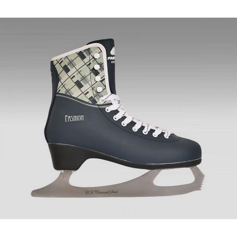 Фигурные коньки СК Fashion Lux Checks gray каком спортивном магазине в калуге можно подешевле коньки
