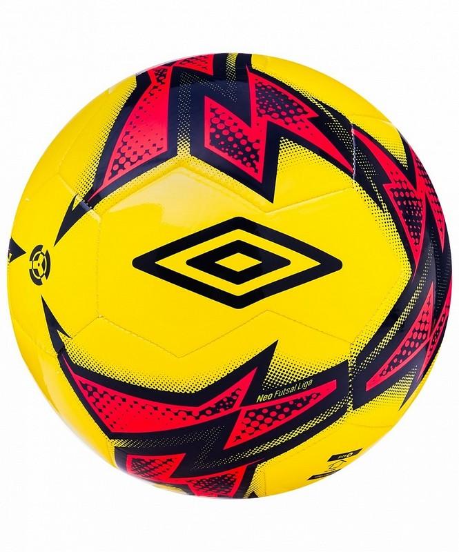 Мяч футзальный Umbro Neo Futsal Liga 20871U (FPZ) жел/т.син/роз. мяч футзальный любительский р 4 umbro neo futsal liga 20871u fcy