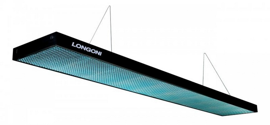 Лампа плоская люминесцентная Longoni Compact (черная, бирюзовый отражатель) 75.287.01.4