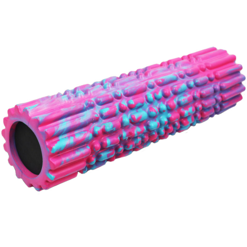 Купить Ролик для йоги полнотелый 45х15см B34515 YGR-6 розовый мультиколор, NoBrand