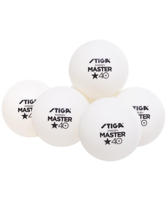 Мячи для настольного тенниса Stiga 1* Master ABS белый (6 шт.)