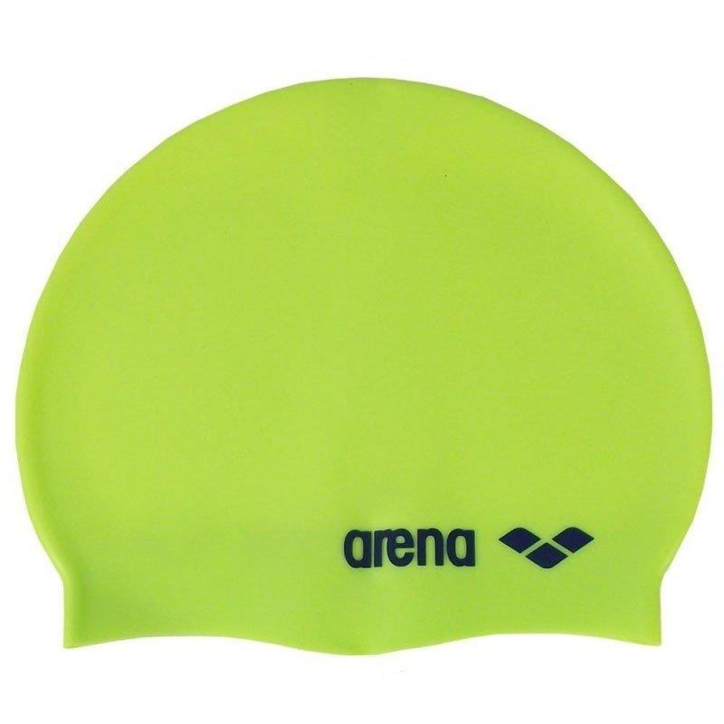 Шапочка для плавания Arena Classic Silicone Jr лайм цена